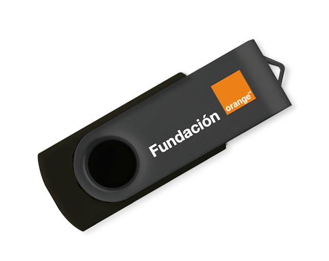Personalización Memorias USB Fundación Orange